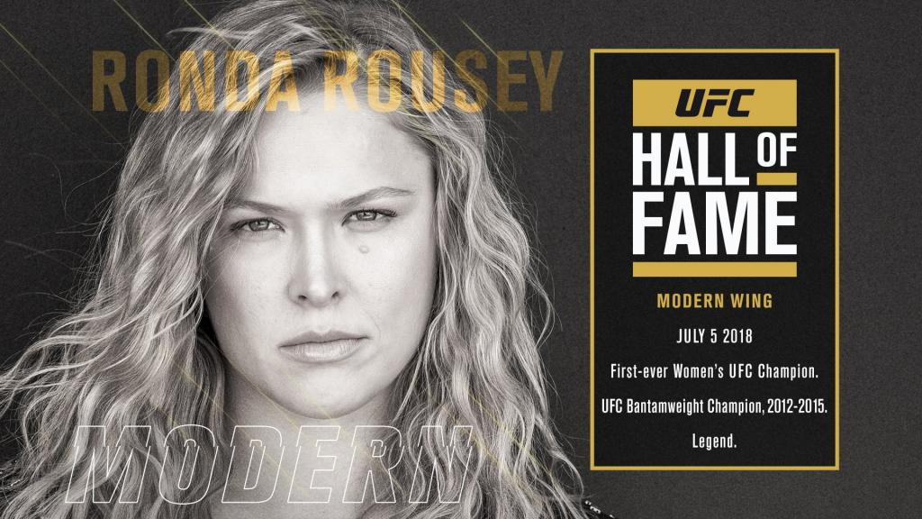 UFC Hall of Fame : Ronda Rousey