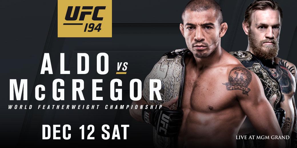 UFC 194 - ALDO VS. MCGREGOR
