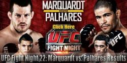 UFC FIGHT NIGHT 22 - MARQUARDT VS. PALHARES