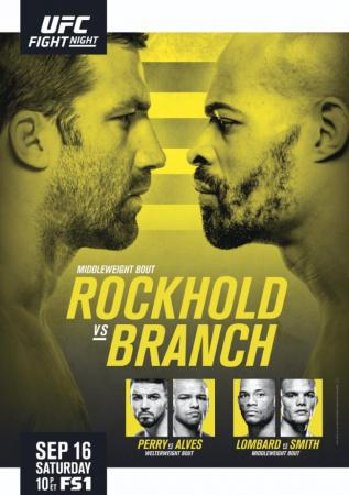 UFC FIGHT NIGHT 116 - ROCKHOLD VS. BRANCH