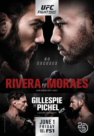 UFC FIGHT NIGHT 131 - RIVERA VS. MORAES