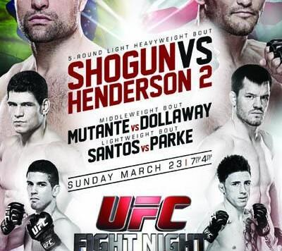 UFC FIGHT NIGHT 38 - SHOGUN VS. HENDERSON 2