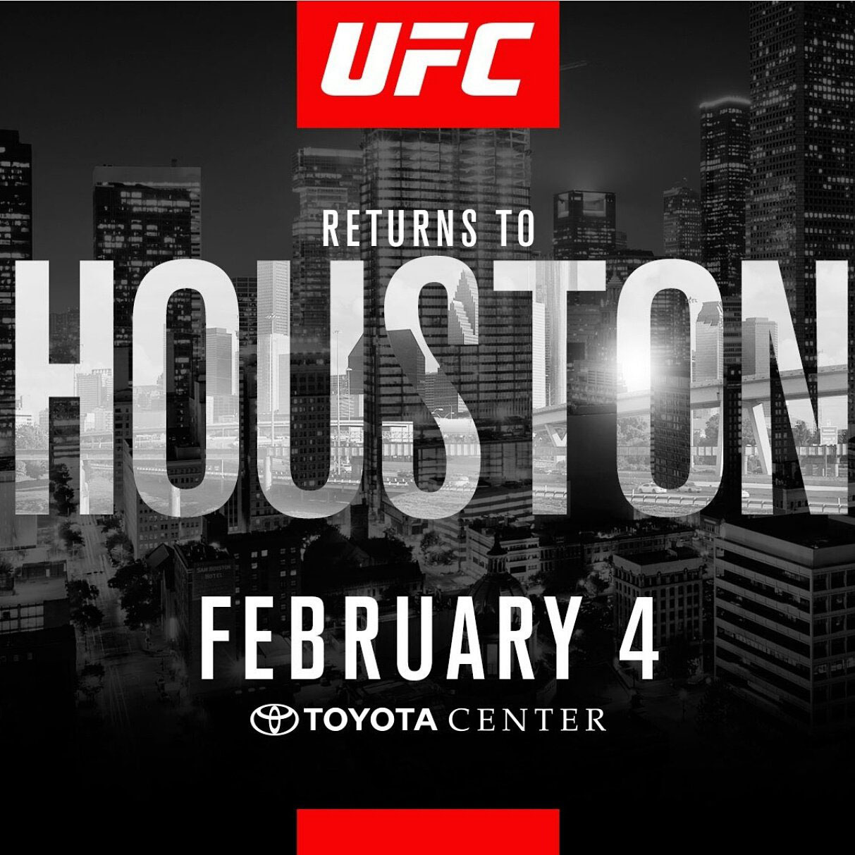 Poster/affiche UFC Fight Night 104 - Houston