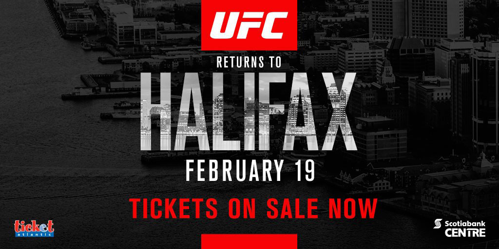 Poster/affiche UFC Fight Night 105 - Halifax