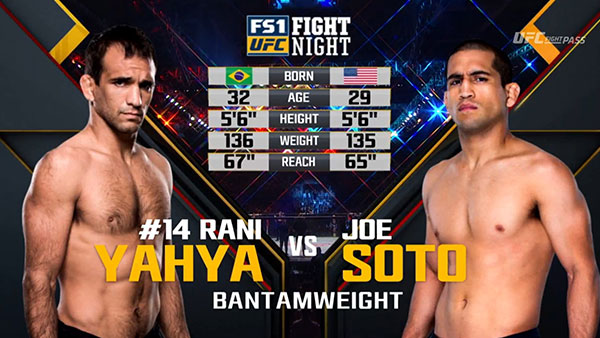 Rani Yahya contre Joe Soto