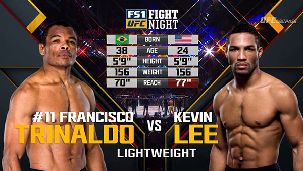 Francisco Trinaldo contre Kevin Lee