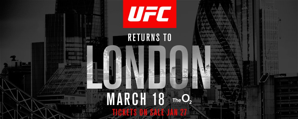 Poster/affiche UFC Fight Night 107 - Londres