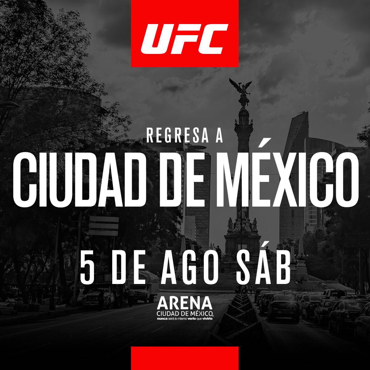 Poster/affiche UFC Fight Night 114 - Mexico City