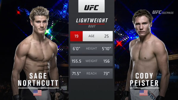 Sage Northcutt vs. Cody Pfister