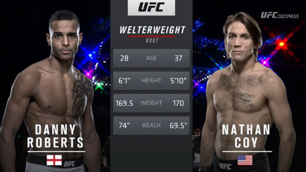 Nathan Coy vs. Danny Roberts