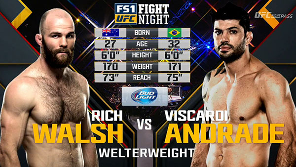 Richard Walsh contre Viscardi Andrade