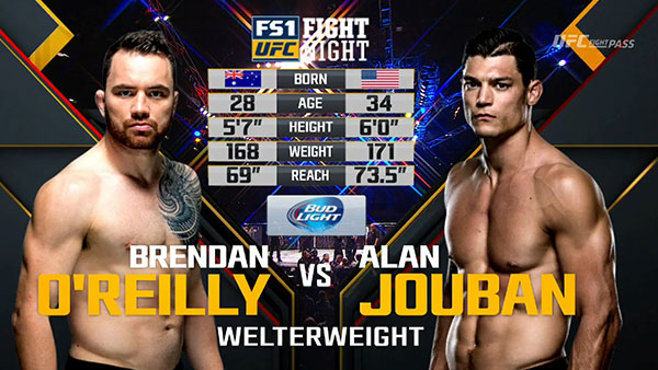 Brendan O'Reilly contre Alan Jouban