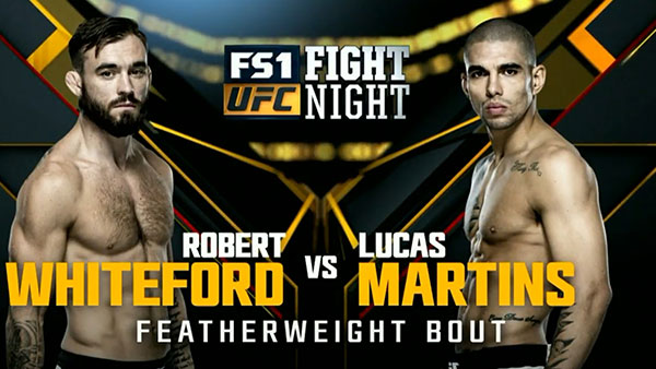 Robert Whiteford contre Lucas Martins