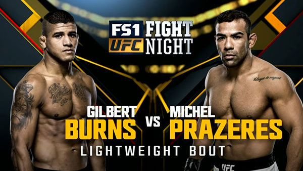 Gilbert Burns contre Michel Prazeres