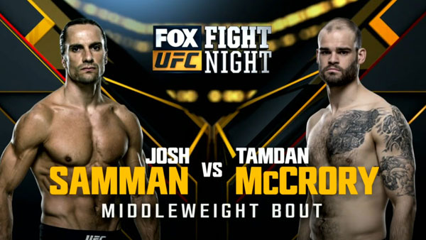 Josh Samman vs. Tamdan McCrory