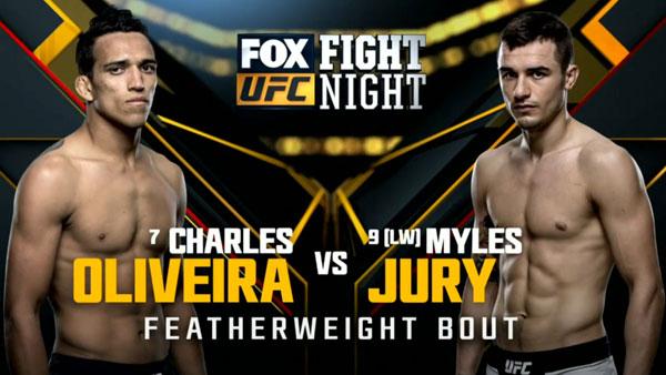 Charles Oliveira vs. Myles Jury