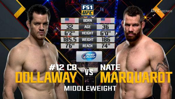 C.B. Dollaway vs. Nate Marquardt