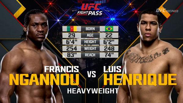 Victoire de Francis Ngannou contre Luiz Henrique