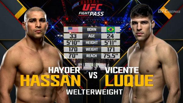 Victoire de Vicente Luque Hayder Hassan