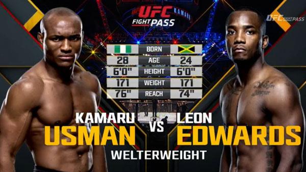 Victoire de  Kamaru Usman contre Leon Edwards