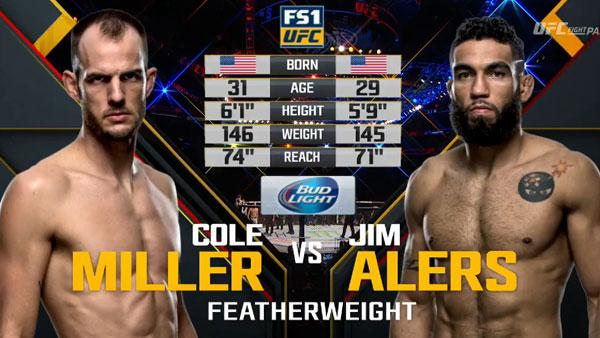 Victoire de Jim Alers contre Cole Miller
