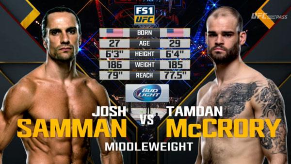 Victoire de Tamdan McCrory contre Josh Samman