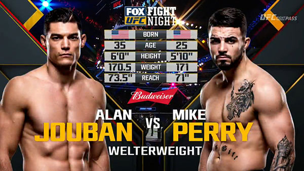 Alan Jouban contre Mike Perry