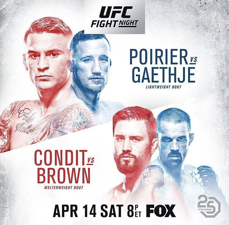 Poster/affiche UFC on Fox 29 - Glendale