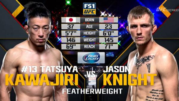 Tatsuya Kawajiri  vs. Jason Knight