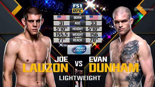 Evan Dunham vs. Joe Lauzon