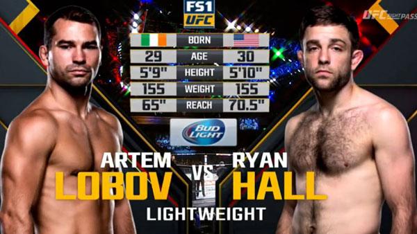 Artem Lobov vs. Ryan Hall  (TUF 22 Finale)
