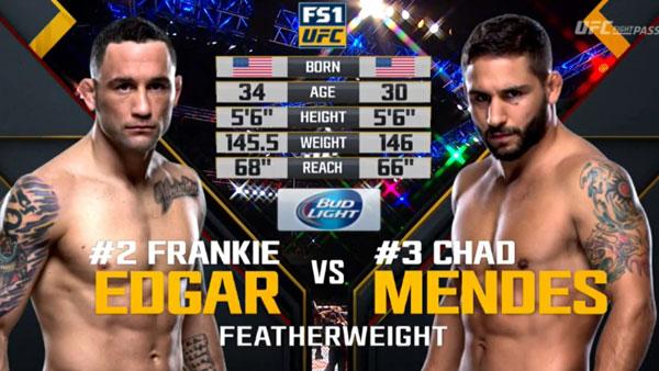 Frankie Edgar vs. Chad Mendes