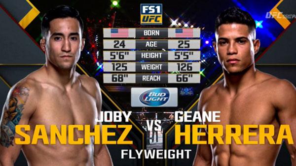 Joby Sanchez  vs. Geane Herrera