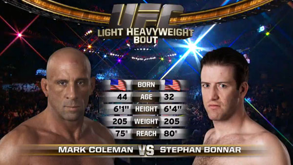 Mark Coleman contre Stephan Bonnar