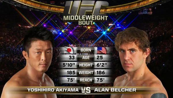 Yoshihiro Akiyama contre Alan Belcher