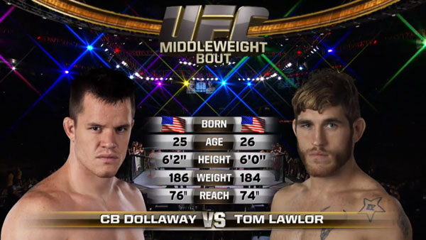 C.B. Dollaway contre Tom Lawlor