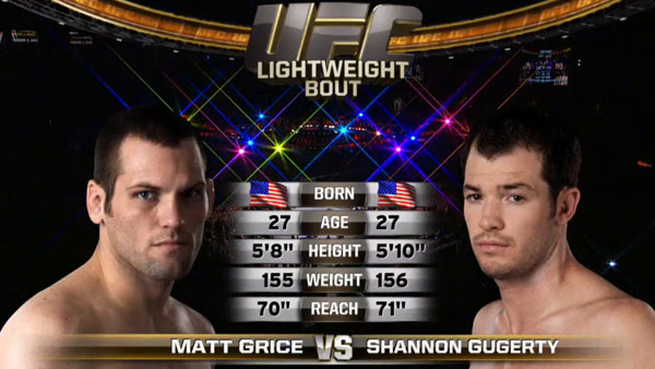Matt Grice contre Shannon Gugerty