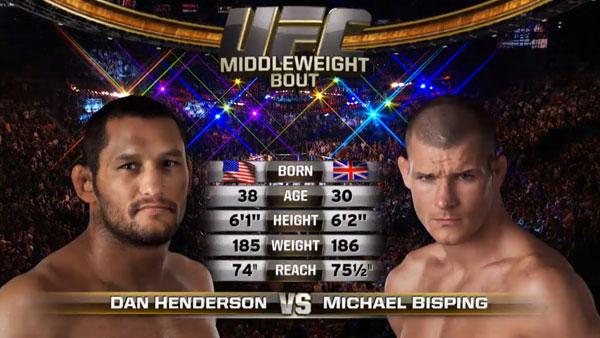 Dan Henderson contre Michael Bisping