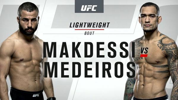 John Makdessi (156) vs. Yancy Medeiros (155.5)