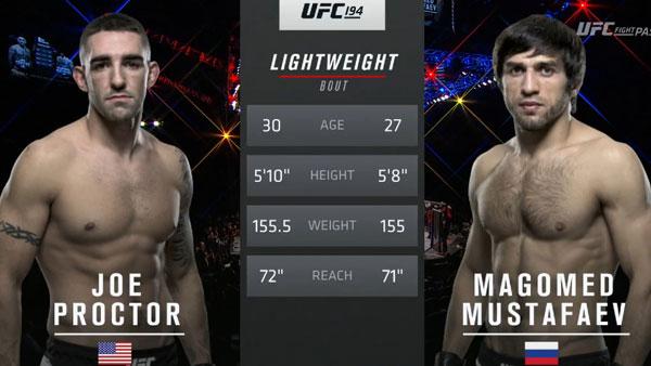 Magomed Mustafaev contre Joe Proctor