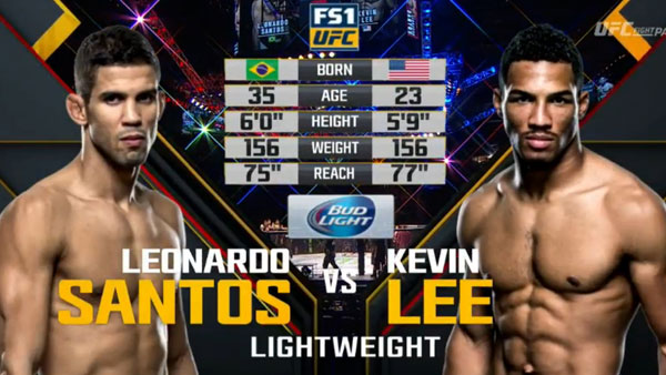 Kevin Lee contre Leonardo Santos