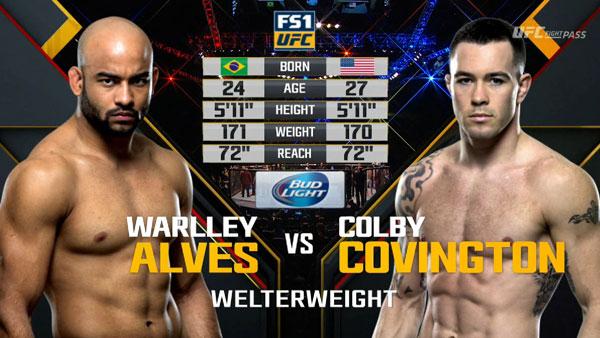 Warlley Alves contre Colby Covington
