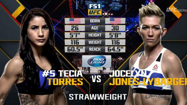 Tecia Torres contre Jocelyn Jones-Lybarger