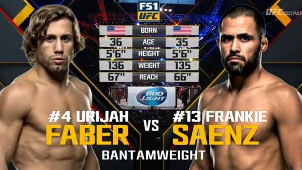 Urijah Faber contre Frankie Saenz