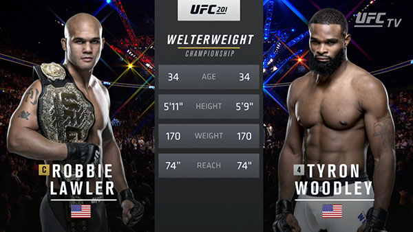 Robbie Lawler contre Tyron Woodley