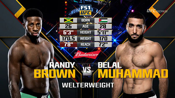 Randy Brown contre Belal Muhammad