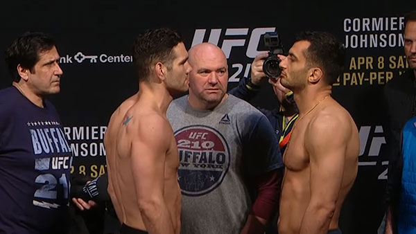 Chris Weidman contre Gerard Mousasi