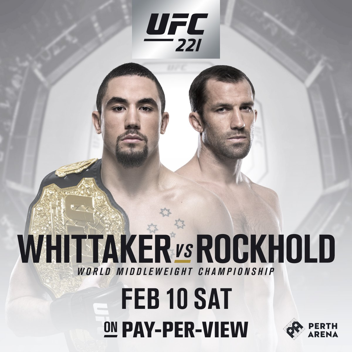 Poster/affiche UFC 221 - Perth