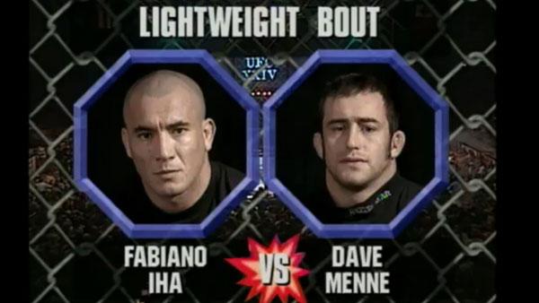 Dave Menne contre Fabiano Iha