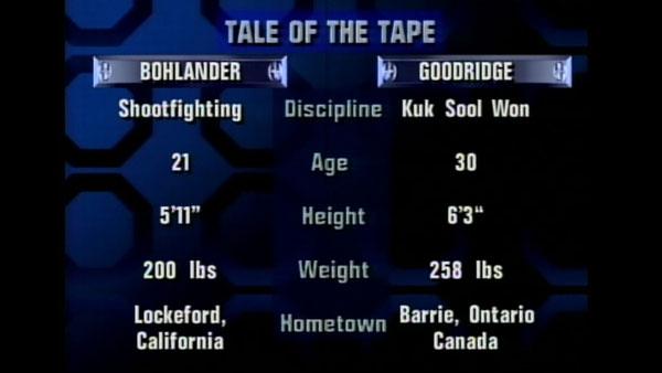Victoire de Gary Goodridge contre Jerry Bohlander